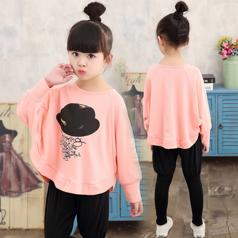 3-11Y Fashion Autumn Girl T Shirts Pants Sets Toddler Tracksuit Children Clothing Enfant Baby Sets Long Sleeve Kids Clothes Suit swan grils clothing sets summer animal shirt dot pants suit toddler girl clothing tracksuit conjunto menina children s clothing