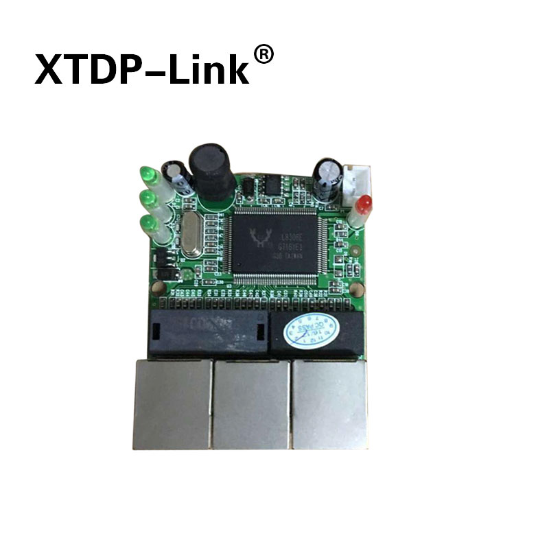 Realtek RTL8306E chipset 90/180 degree RJ45 3 port mini ethernet switch board factory accept OEM ODM network switches pcb кабель deppa 2 в 1 для apple usb 8 pin micro usb 1 2м белый 72203