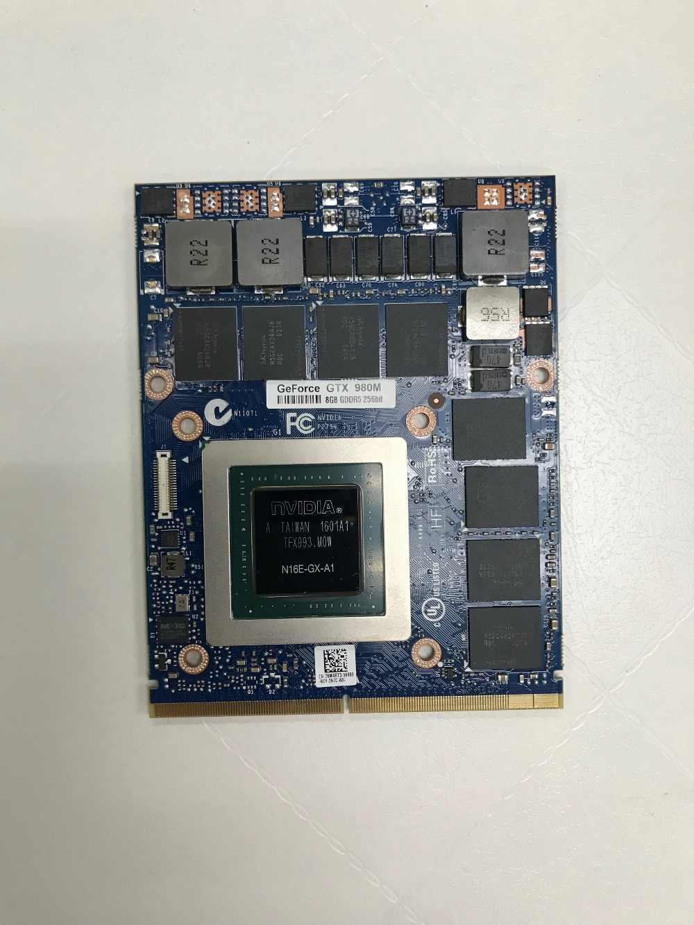 ¡Nuevo! DHL GTX980M GTX 980M tarjeta gráfica GPU N16E-GX-A1 8GB GDDR5 para Alienware Clevo GTX980 tarjeta de vídeo GPU reemplazo