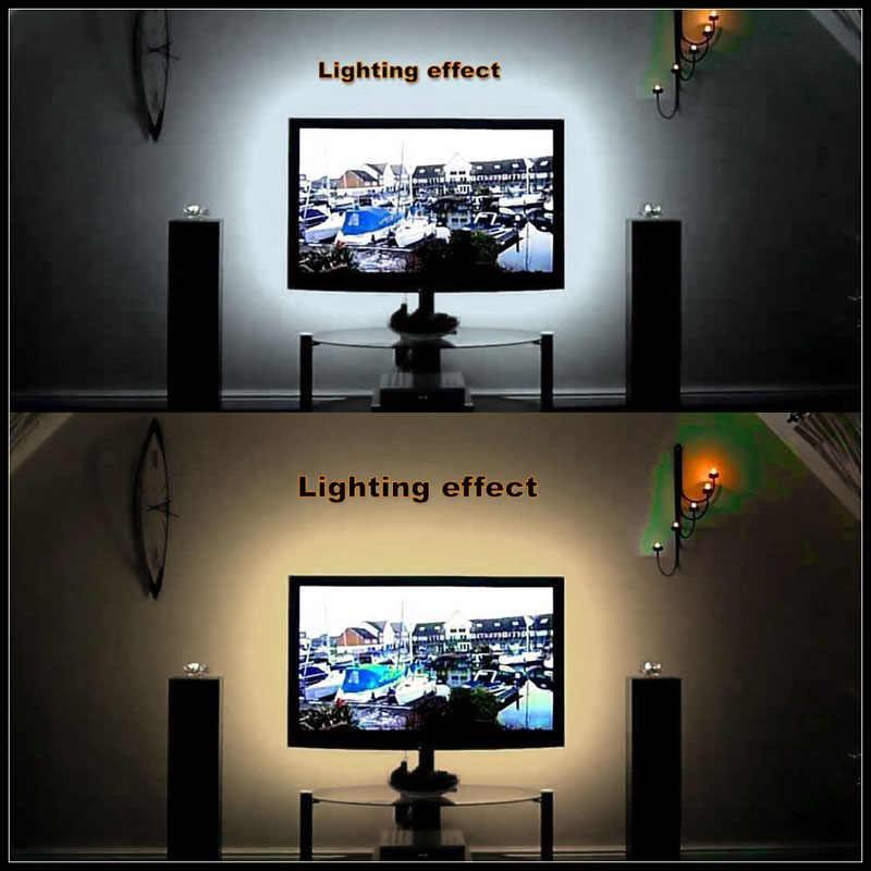 DC 5V taśma LED 24Key kabel USB zasilanie elastyczne światło lampa 50CM 1M 2M 3M 4M 5M SMD 2835 biurko ekran taśma oświetlenie tła do tv