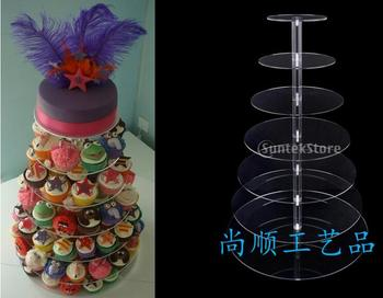 7 tier acrylic crystal wedding cake stand Free Shipping wedding decoration