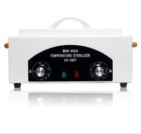 Mini High Temperature Sterilizer Box Nail Salon Sterilizer Hot Air Disinfection Cabinet For Hairdressing, Tattoo, Manicure Tool