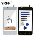 4.0 ''Phone Переднее Стекло Сенсорный Экран Для Explay Atom Сенсорный Экран Объектив Датчик Дигитайзер Сенсорная Панель Стекло + 3 М Клей логотип