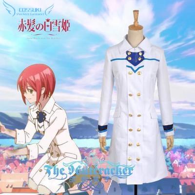 Anime Akagami no Shirayukihime Shirayuki Long White Cosplay Windbreaker