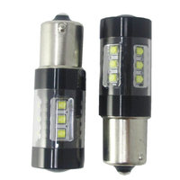 2PCS P21W 1156 80w 16SMD XBD Chips Car Led 382 Ba15s Canbus Reverse Linghts High Power Turn lights taillight 12V DC White 6000K