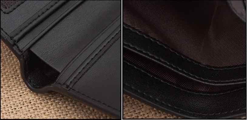合成革ポケットコインクレジットカードクラッチマネーバッグ男性ファッション二つ折り財布 # YL5