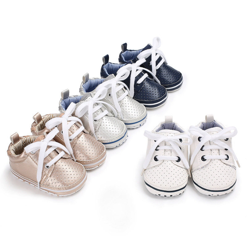 Classic Newborn Baby Boy Girl Soft Sole Crib Shoes Warm Boots Anti-slip Sneaker PU Breathable Solid First Walkers 0-18M
