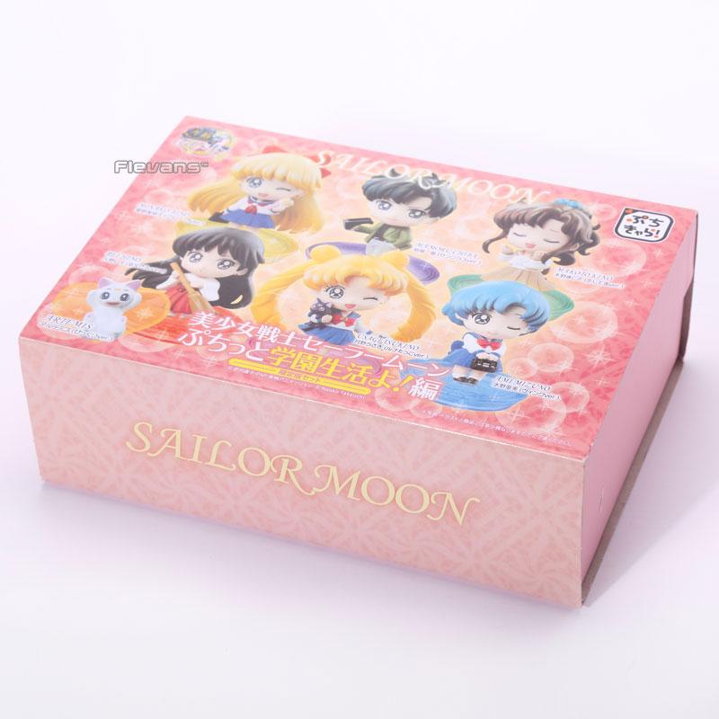 Anime Petit Chara Sailor Moon School Life Boxed PVC Action Figures Collection Model Toys 6pcs/set SAFG027 vandoren cm307 cm308 cm3088 b45 traditional bb clarinet mouthpiece clarinet sib bb mouthpiece
