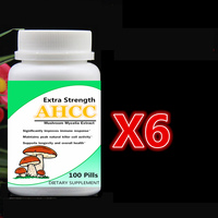 6 X 100pcs AHCC Supplement Extra Strength Mushroom Mycelia Extract Immune System Support Maintain Cell Activity