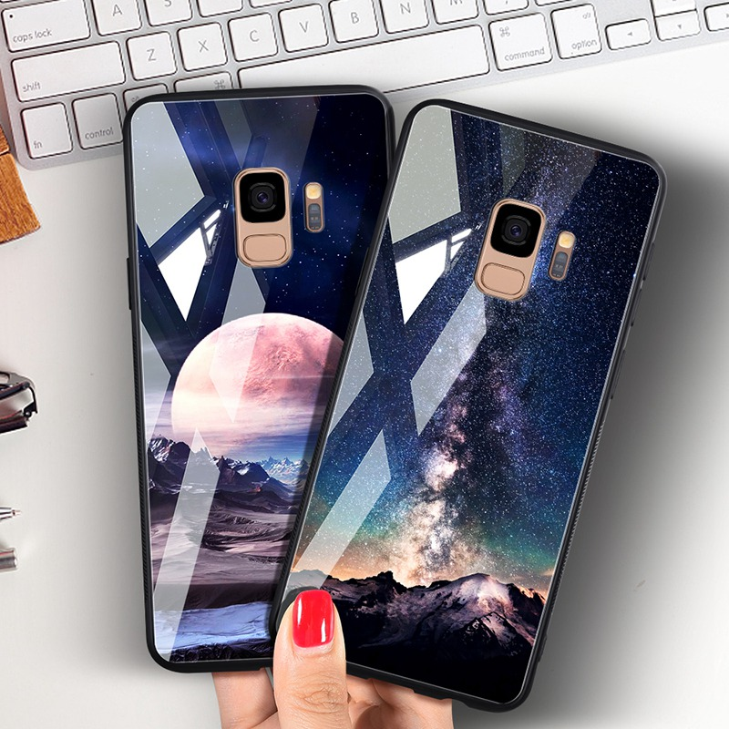 Odifren Space Case for Samsung Galaxy S9 S9 Plus Case Note 9 Tempered Glass Cover Coque Phone Cases for Samsung Galaxy Note 8 9 (12)