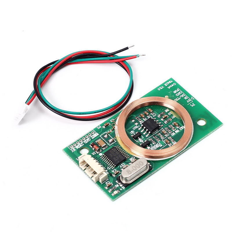 RFID Reader Wireless Module UART 3Pin 125KHz Card Reading EM4100 8CM DC 5V for IC Card PCB Attenna Sensor Kits Arduino