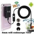 1M 8mm Wifi Wireless Endoscope Waterproof for iOS Android Borescope HD 720P 6LED Tube Inspection Mini Camera 2MP CMOS Cameras