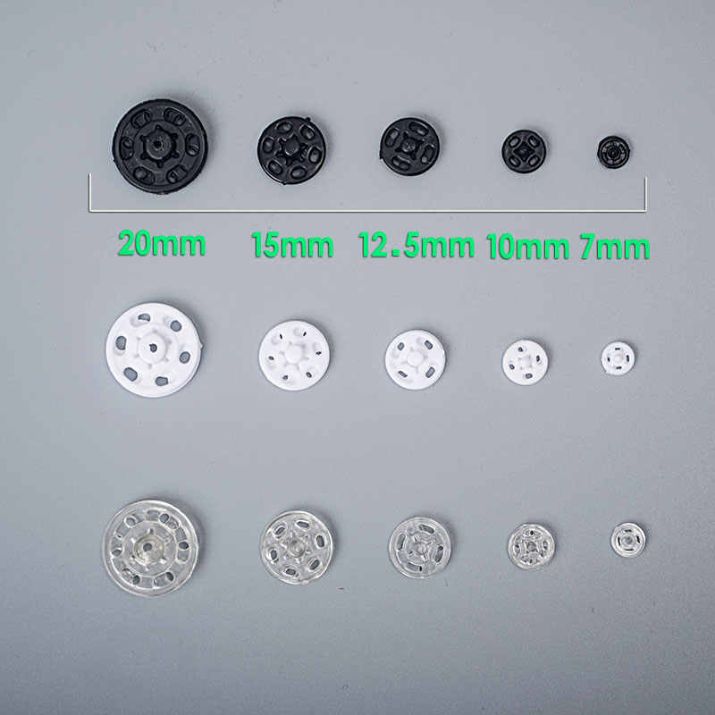 Quality plastic resin press stud snaps invisible sewing accessories 12.5mm
