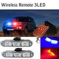 Wireless 2 3 LED DRL Daytime Running Light Strobe Police Light Flash Emergency Firemen Emergency External
