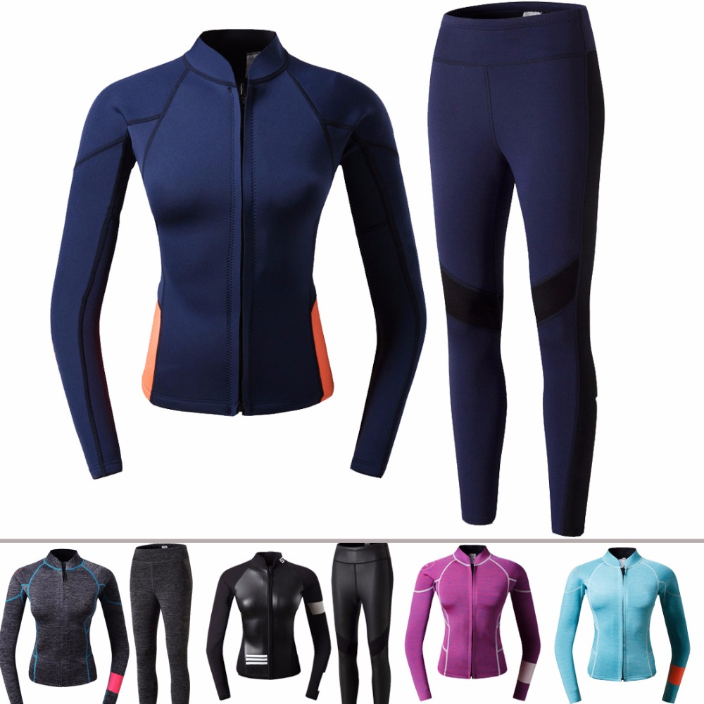 0e4b31cf07 sexy woman girl wetsuit 2mm in two piece in best quality swimsuit surfing  diving swimming yamamoto