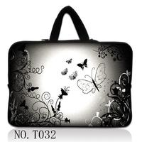 Silver Butterfly Colorful 15 Laptop Bag Sleeve Case Hide Handle For Dell HP ACER ASUS ThinkPad