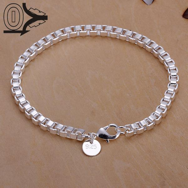 Topkwaliteit heet verkoop verzilverde armband, bruiloft sieraden accessoires, mode zilveren Aberdeen doos armbanden Bangle Gift