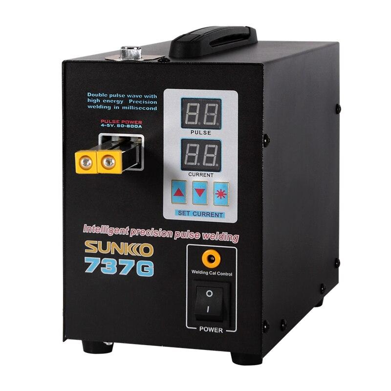 SUNKKO 737G Double Pulse Spot Welding Battery Spot welder LCD Digital Display Precision Welding Machine for 18650 Batteries Pack
