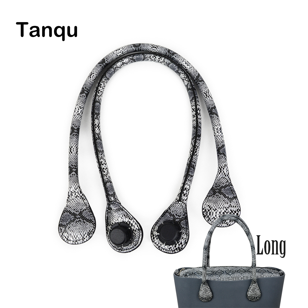 TANQU New Long Faux Snakeskin Snake Skin Handle For Obag Serpentine PU Leather Handle Strap For O BAG Ochic O Chic Accessory