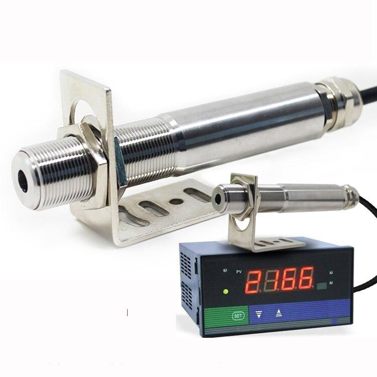 Frete grátis 0-600 graus Não-contato termômetro infravermelho de ondas curtas online sensor 4-20ma sensor Infravermelho de grau Industrial