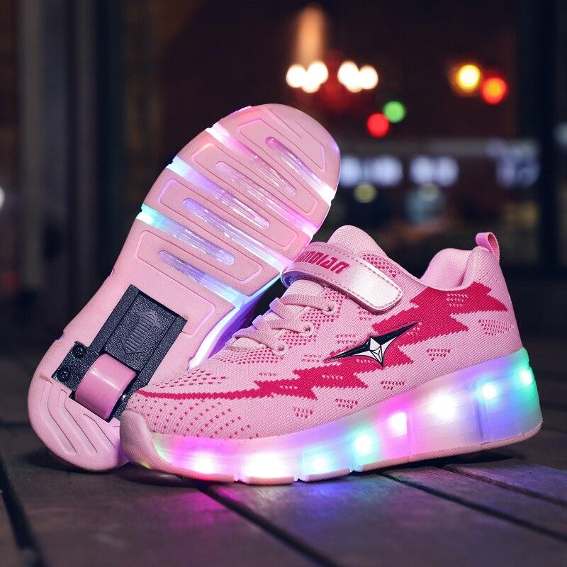 Big Offer #22e2 New Pink Orange USB Charging Fashion Girls