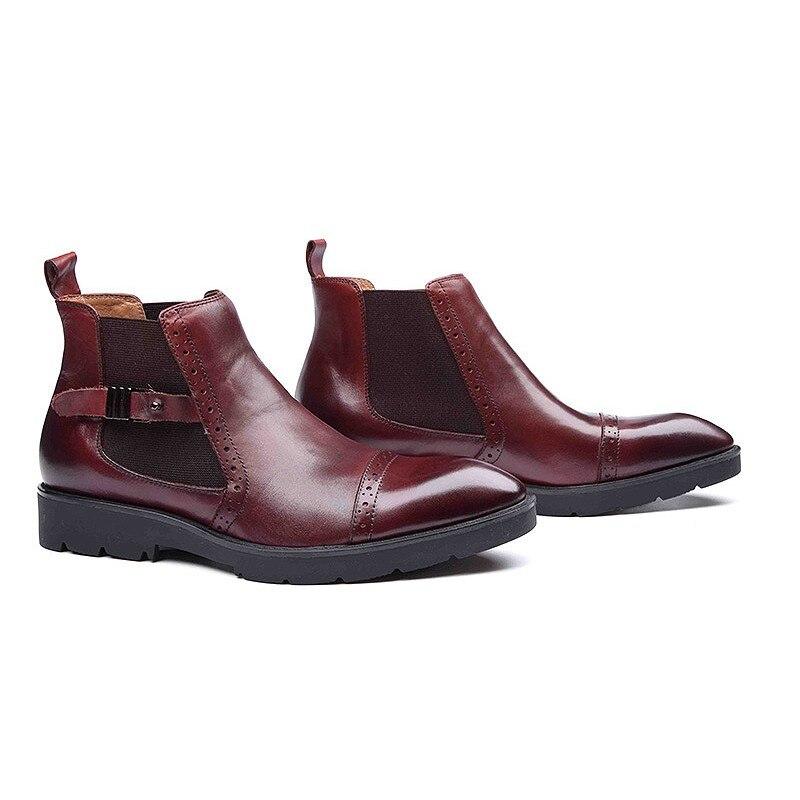 Calidad Black Lujo wine Zapatos Plus Tamaño Casuales Retro Invierno Business Alta Hombre On Slip Red Botas Sólida De 44 37 Italiano Hombres Homens RpOfqwgg