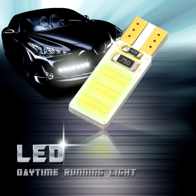 KEIN 2PCS Canbus T10 w5w 194 COB auto car led Side Wedge Light Interior Panel Dome Lamp Door white Tail Signal Bulb for lada 12v