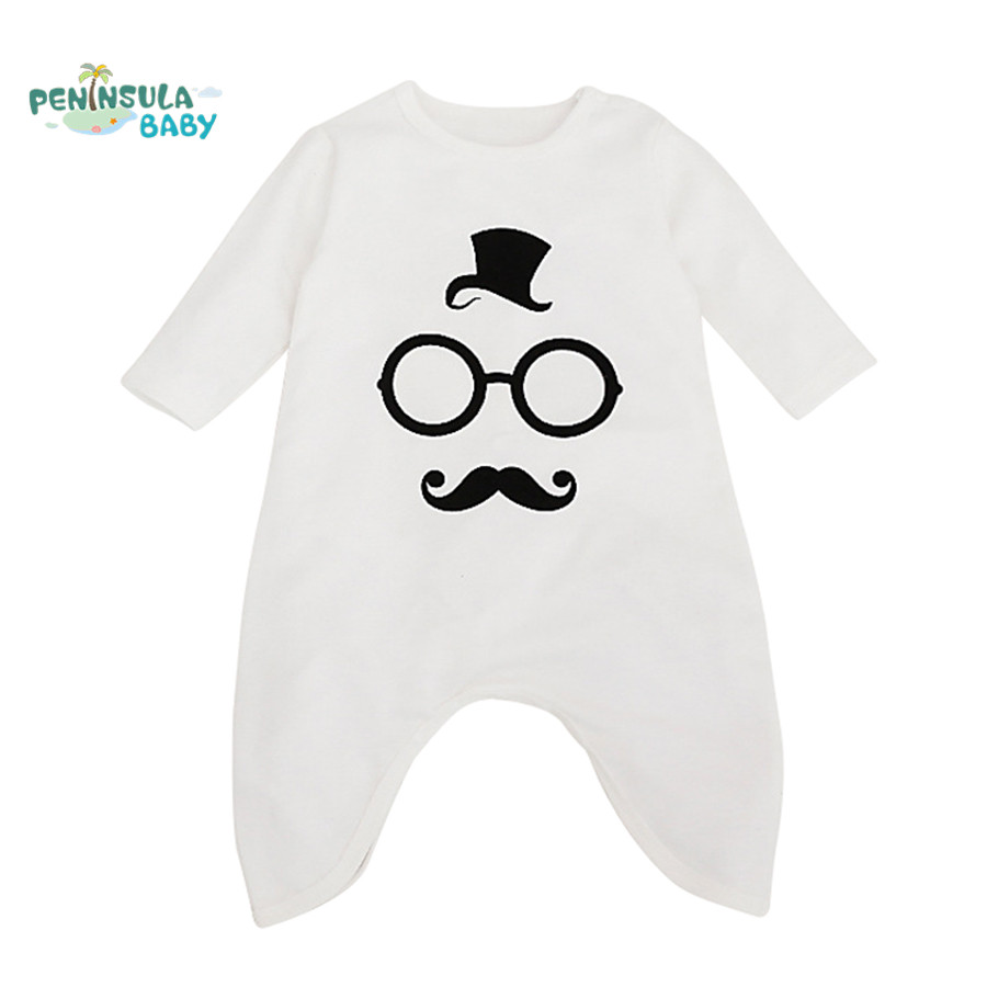 2017 New Spring Baby Rompers Cotton Long Sleeve Jumpsuit Newborn Boys Girls Autumn Clothes Toddler Infant Costume Outerwear baby clothes autumn winter baby rompers jumpsuit cotton baby clothing next christmas baby costume long sleeve overalls for boys
