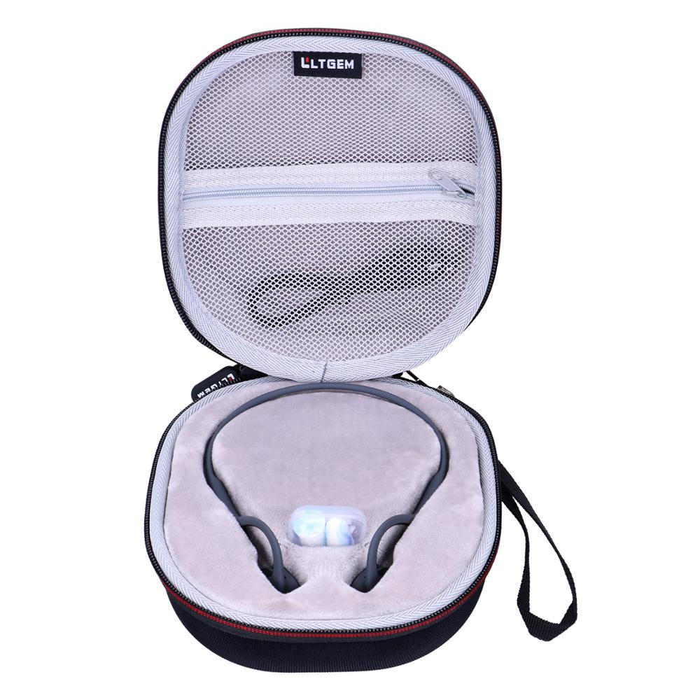 LTGEM EVA Waterproof Carrying Hard Case For AfterShokz Trekz Air Open Ear Wireless Bone Conduction Headphones AS650SG