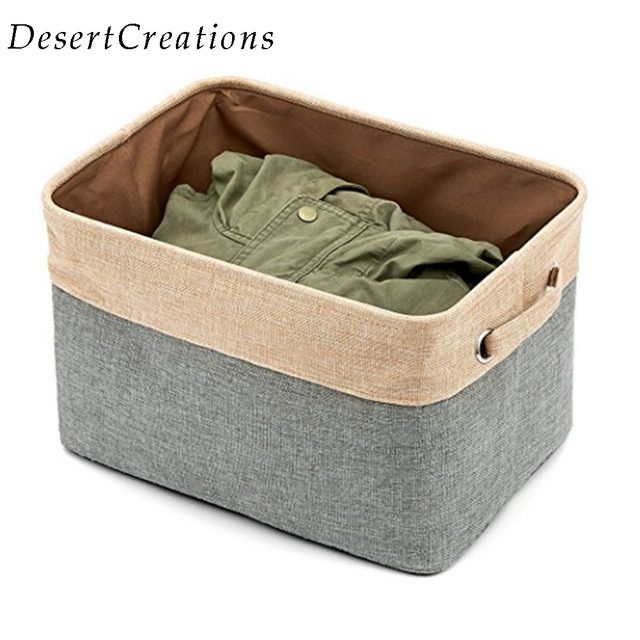 No Cover Cotton Linen Storage Box Organizer Sundries Storage Box Cabinet  Underwear Clothes Storage Box S M L