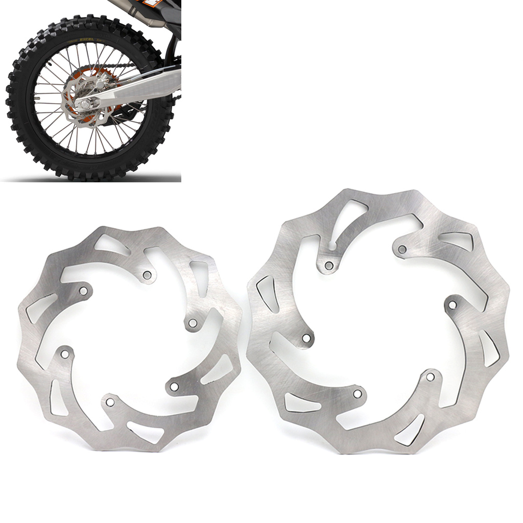 260/220mm Front Rear Brake Discs Rotors For <font><b>KTM</b></font> <font><b>125</b></font> 200 250 300 350 450 500 EXC <font><b>SX</b></font> SXF XC XCW XCF 1994-2019 Husqvarna Husaberg image