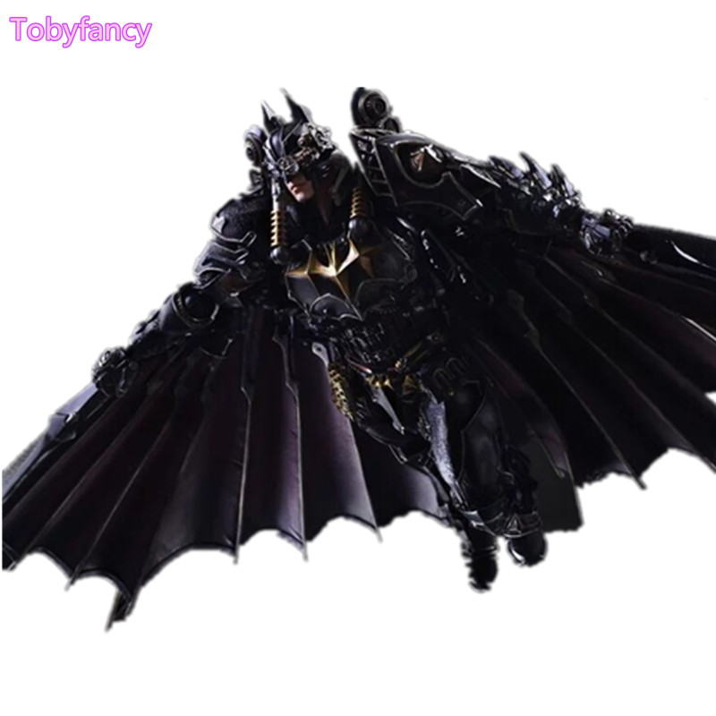 Steampunk Batman Play Arts Kai PVC Action Figure Toy 270mm Anime Movie Model Steampunk Bat Man Playarts Kai Figurine batman action figure play arts kai sparda pvc toys 270mm anime movie model sparda bat man playarts kai free shipping gc051