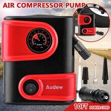 Bomba de ar compacta portátil para pneus, compressor de ar, 12v dc, 100psi de saída, para bicicleta e carro