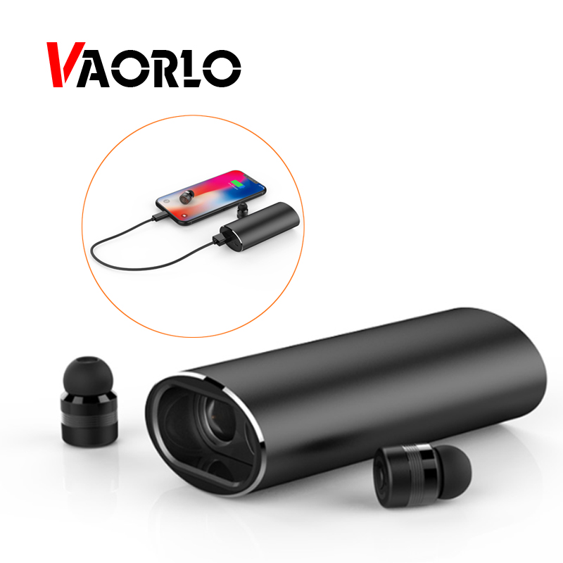 VAORLO Bluetooth Earphones TWS Wireless Earbuds Stereo Music Headset With Microphone Handsfree Charging Box Power Bank For Phone bluetooth headset handsfree earbuds tws true wireless stereo earphones with mic charging box for phone and all smartphones yz148