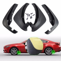 New 4Pcs Black High Quality Mud Flaps Flap Splash Guards Mudguard For Mazda 6 I Sedan