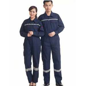 Image 1 - Woman men work overalls working uniforms spring thin section Reflective Coveralls welding car workshop mechanic PlusSize clothes