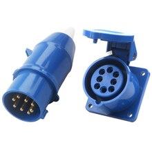 1Pair 16A Waterproof industrial Electric Basket Plug Male/Female Impact Resistant For Industrial site Work Workshops