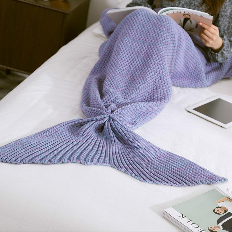 Hot-Mermaid-Blanket-Handmade-Knitted-Sleeping-Wrap-TV-Sofa-Mermaid-Tail-Blanket-Kids-Adult-Baby-crocheted (2)