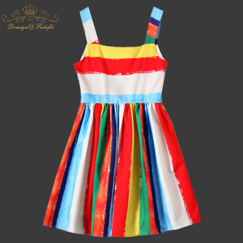 Domiya&Fakifii Girls Dress 2018 New Summer Casual Style Brand Design For Princess Dress Girls Clothes Sleeveless Party Dress женское платье dress new brand 2015 thetest summer dress