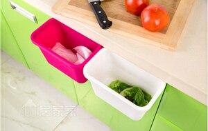 1 шт. подвесное стоящее кухонное мусорное ведро, крепящееся на дверь шкафа, ПП простое мусорное ведро, мусорное ведро, ящик для хранения отходов ок 0176