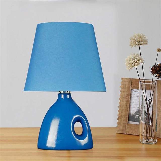 Led Ceramic Table Lamps Simple Modern Bedroom Desk Lighting Bedside Reading Light Novetly Students Eye Protection E27 Book Lamp