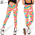 S-XL Women's Galaxy  Print Leggings Adventure Time Legging Fashion Rainbow Print  Leggins Skinny Elastic Leggings Women