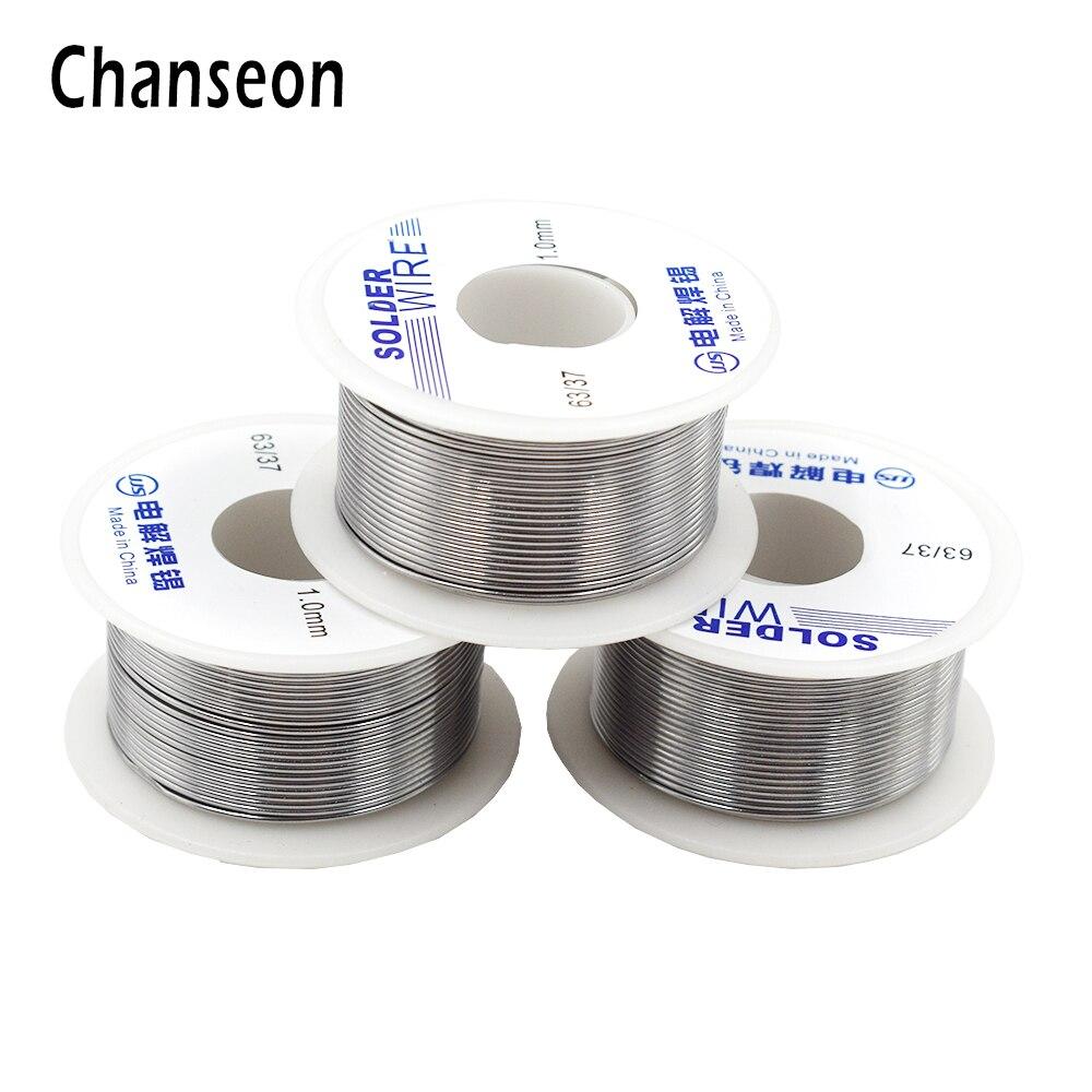 Solder Wire New 1mm Reel 100g/3.5oz Tin Lead Line FLUX 2.0% Silver Solder Wire 55*29mm for Soldering