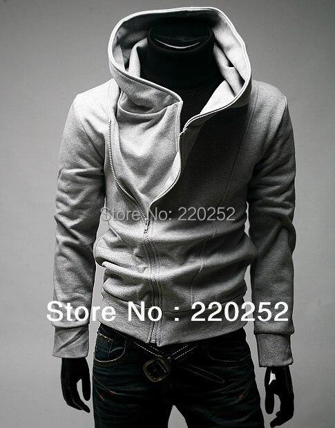 Mens panas penjualan zip ramping dirancang jaket hoodie 3c67149126