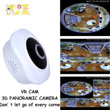 Full HD 1080P Fish Eyes Lens IP Wifi Camera 360 Degree Panoramic Mini Camera Home Security 3D VR Cam Infrared Night Vision