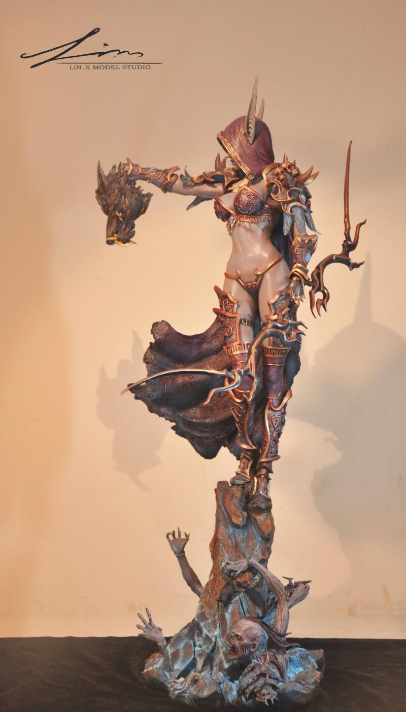 MODEL FANS INSTOCK wow Sylvanas Windrunner 66cm height gk resin statue contain light eye figure for collection world of warcraft wow pvc action figure display toy doll forsaken queen sylvanas windrunner