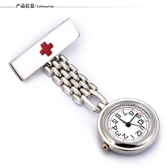 Fashion Medical Nurse Quartz Pocket Watches Doctor Stainless Steel Thicker Chain