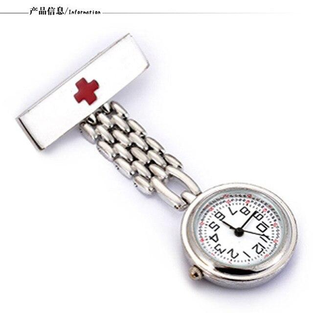 Moda Medico Dell'infermiera Di Tasca Del Quarzo Orologi Medico In Acciaio Inox S