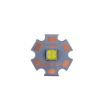 2PCS Cree XLamp XHP50 18W 6V/12V LED Bulb Emitter 2546lm 18W Cool White LED J2 1A Chip Light with16MM 20MM Cooper PCB