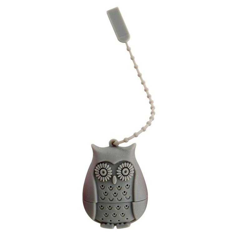 Set of 4 Silicone Owl Tea Bag Creative Silicone Tea Infuser Filter for Mug Tea Pot Empty Tea Bags for Loose Tea Kitchen Accessories (6)